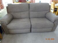 Electric reclining Settee and Armchair
