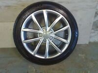 ALLOYS X 4 OF 17 INCH GENUINE AUDI 10 SPOKE FULLY POWDERCOATED INA STUNNING SHADOW CHROME VERY NICE