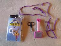 Large Dog Muzzle (size 4) $10 Nail Clippers $5