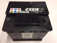 EXCIDE CAR BATTERY, HARDLY USED.
