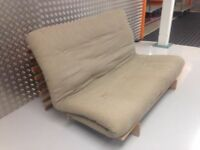 Futon Company Sofa Bed Solid Wood Base+Thick Sofabed Mattress VGC. Cost £645. (Can Deliver)