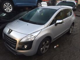 Peugeot 3008 SUV (2009 - 2013) MK1 1.6 HDi Style 5dr silver(EZRC) wing indicator breaking