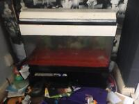 Fish Tank and Stand with Storage