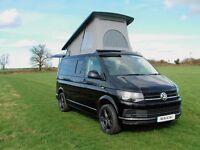 Volkswagen T6 Camper Van Tailgate SCA Roof Rib Bed Low Miles Aircon Metallic Black