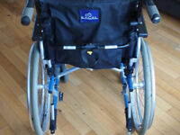 Wheelchair - Excel G5 modular self propelled wheelchair with height adjustable push handles
