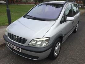 ***SORRY SOLD***2002 VAUXHALL ZAFIRA COMFORT DTI 2.0L DIESEL MPV (7 SEATS) LOW MILEAGE LOW INSURANCE