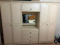 Large cream wardrobe and drawers - Free