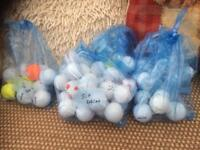 Golf balls for sale.