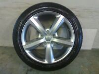 ALLOYS X 4 OF 20 INCH GENUINE AUDI Q7 5 SPOKE S/LINE FULLY POWDERCOATED IN A STUNNING SHADOW CHROME