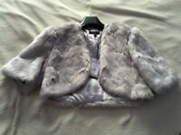 Coast bleaker fur cover up size small