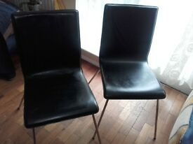 Black faux leather Mandy Chairs