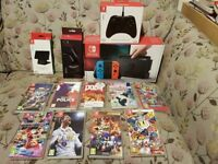 BIG Nintendo Switch bundle with 9 games & extra controller