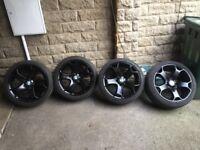 "Genuine Bmw tiger claw 18"" alloy wheels ""really good tyres"""