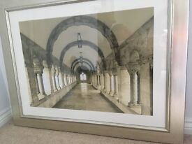 Pair of Silver Framed Black & White Photographs/Pictures