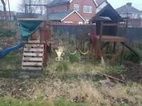 Large climbing frame/playhouse