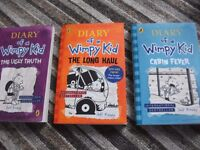 Diary of a Wimpy Kid Books x 3