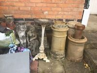 Garden Ornaments for sale - vintage style chimneys, pots and garden ornaments for sale