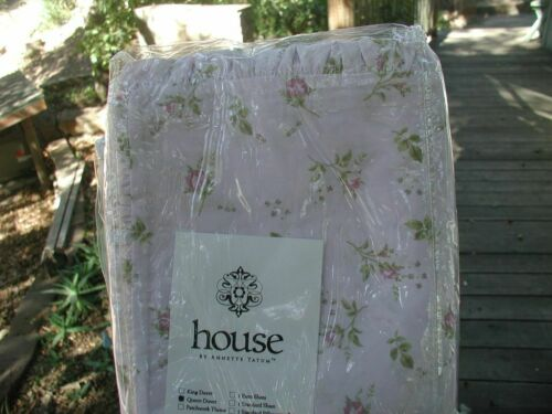 "Annette Tatum House Inc Petite Fleur Rose Duvet (Q) Rare 1/2"" Folded Ruffle"
