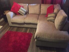 Beige Corner Couch