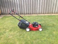 petrol lawnmower with drive