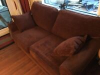 Rich Brown Fabric Sofa Bed