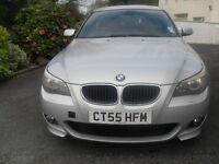 BMW, 5 SERIES, 2005 (55), Saloon, Diesel, Manual, Silver, Engine size: 2000
