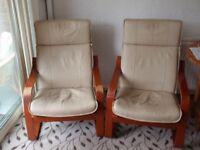 Pair of Cream Chairs