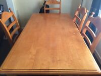 Very high quality table with 6 chairs very good condition. £150 or nearest offer 07543993188