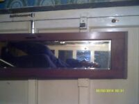 A RECTANGULAR MIRROR In a RECTANGULAR FRAME 56 by 14 Inches .++ HALL or BEDROOM ? ? ?