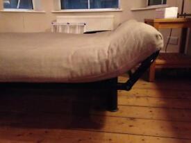 Good Quality sofa bed - steel framed, timber slat and horse hair matresslats