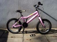 Kids Bike,Ridgeback, Pink, 14 inch Wheels, Great for Girls 4 + Years,JUST SERVICED/ CHEAP PRICE!!!!