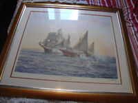 1974 limited edition Montague Dawson framed & signed print
