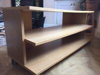 Ikea TV cabinet on wheels