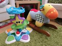 Little Tikes musical activity centre and rocking horse