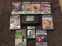 Sega Game Gear with Games