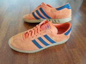 Adidas Hamburg trainers orange 9.5
