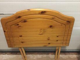 Headboard pine single bed
