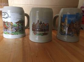 7 German Beer Tankards,Mugs, Steins for £5 each (or all 7 for £25)