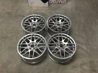 BRAND NEW 19″ Staggered CSL Style Wheels – Hyper Silver E90 E91 E92 /E93 E46 M3