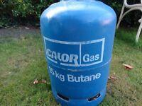 Unused Calor Gas 15KG Butane bottle ready for BBQ season