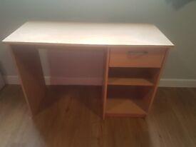 wooden desk with storage