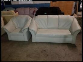 3+1 cream sofa in good used condition can deliver
