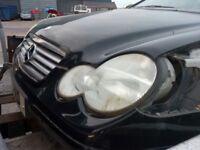 2002 Mercedes C220 CDI W203 2 door Black hatchback coupe BREAKING FOR PARTS SPARES
