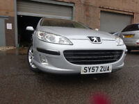 57 PEUGEOT 407 HDI SE DIESEL2.0 AUTOMATIC,MOT NOV 017,PART HISTORY,2 OWNERS,STUNNING FAMILY EXAMPLE