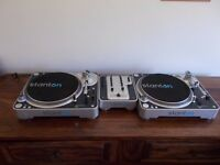 STANTON T80 DIRECT DRIVE TURNTABLS+STANTON M.201 MIXER/TECHINCS 1210/1200 ALTERNATIVE/ UK DELIVERY