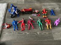 Power rangers toy figure bundle