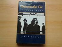 """Hardback book. THE STORY OF U2 """" UNFORGETTABLE FIRE""""."""