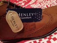 Men's Hanley Comfort leather brown shose size 9