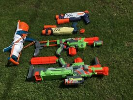 Nerf gun selection + Artic Force Snow Blaster