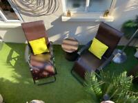 BRAND NEW-SET OF 2 WiCKER RECLINING CHAIRS